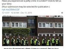 NY Times asks Londoners if they've experienced crime in city... and gets suitably British replies