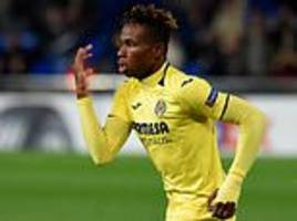 samuel chukwueze's strike helped spanish side top rangers' group and advance to the last-32