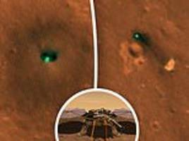 spot the mars lander! nasa craft orbiting red planet snaps first images of insight seen from space