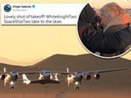 virgin galactic blasts off in milestone attempt to fly its tourist rocket to the edge of space
