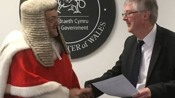 Wales new First Minister Mark Drakeford is sworn in