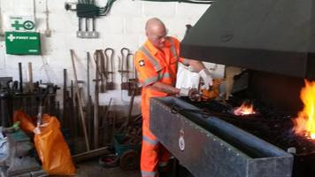 burgled veterans' forge metalwork project helped by grant