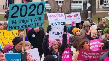 michigan protesters gather at the state capitol over lame-duck bills