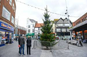 New Christmas tree put up in the town centre