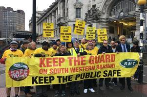 rmt announces further south western railway strikes including new year's eve