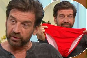 i'm a celebrity's nick knowles putting famous red budgie smugglers up for auction