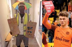 Dundee United star Jamie Robson apologises after fancy dress party 'blackface' storm