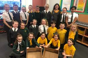 kind-hearted primary pupils fill dozens of boxes for festive foodbank drive
