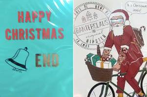 Poundland are selling some rather rude Christmas cards - and shoppers are going wild for them