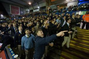 Thousands of students turned up to watch a Cardiff derby at the Arms Park last night and this is what happened