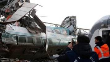 Deadly high-speed train crash in Ankara Turkey