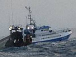 caught! french fishermen are spotted dropping their nets just six miles off the cornish coast
