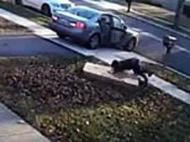 Maryland thief struggles to carry huge TV after stealing it from front porch