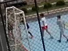 Mother and father attack small boy they accused of fouling their son in Brazil