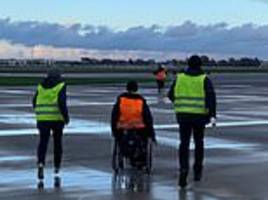 toulouse airport closed after disabled protesters storm the runway