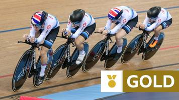 laura kenny, katie archibald, neah evans and ellie dickinson win gold in women's team pursuit