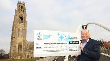lottery winner claims £76m after appeal in boston and skegness