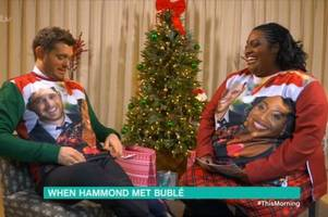 michael buble makes alison hammond blush in flirtacious interview