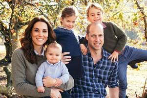 prince william and kate middleton release christmas card - and prince louis steals the show