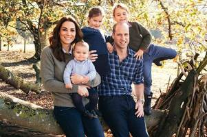 prince william, kate middleton, prince harry and meghan markle release their christmas card photos
