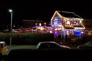 Crazy Christmas lights display attracts hundreds to Johnstone family home