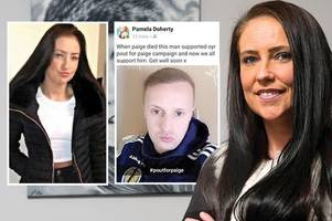 paige doherty's mum pamela sends touching message of support to celtic star leigh griffiths