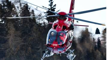 swiss skier airlifted after world cup crash