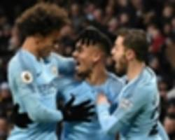 your move, liverpool! jesus & sane shine to send city top - now any chance of a favour, jose?!