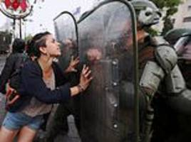 riots in santigo, chile, as indigenous protesters protest over death of mapuche man, 24