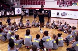 Myles Turner teaches future ballers at his youth basketball camp