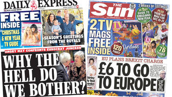 Newspaper headlines: May and Juncker clash and 'Brexit charge' for Brits