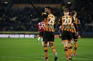 hull city fans react as 'fox in the box' fraizer campbell scores two against brentford