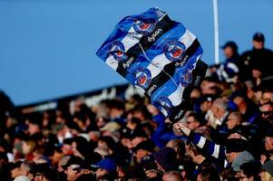 bath rugby flags have been allowed into the aviva stadium as they take on leinster in the champions cup