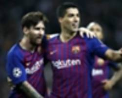 messi and suarez the world's best strike partnership, says pique