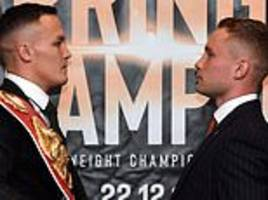 Warrington hoping to share festive drink with rival Frampton after IBF world title showdown
