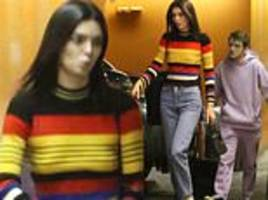 kendall jenner gets help with her bags during trip to barneys after being named highest paid model