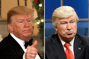 trump blasts 'snl' as 'democratic spin machine,' hints at legal action against networks' 'one sided coverage'