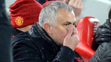 jose mourinho: man utd can still finish in the top four after liverpool loss