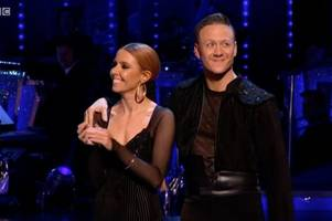 stacey dooley breaks silence over awkward knicker flash in strictly come dancing final