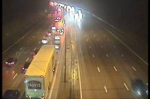 drivers slammed for ignoring lane closure signs after man in 60s seriously injured in m25 crash