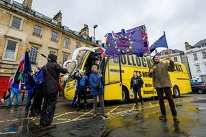 Watch as B******* to Brexit bus comes to Bath and Somerset