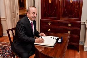 turkey would consider working with syria's assad if he won democratic election: cavusoglu