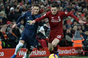 jose mourinho heaps praise on andy robertson after liverpool dump manchester united