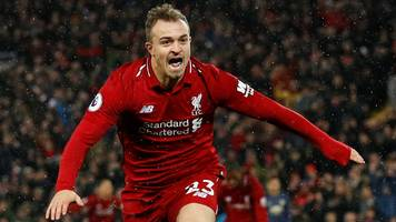 Late Shaqiri double sees Liverpool beat Man Utd to go top