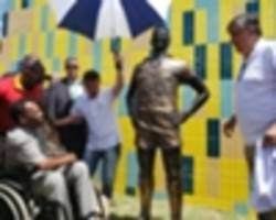 Pele opens new football school to support Brazilian children