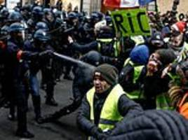 france prepares chemical weapon that can be smothered around paris to keep yellow vest rioters away