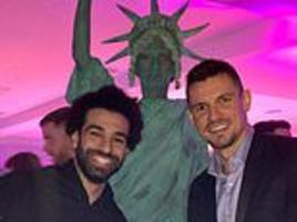 Liverpool stars enjoy New York themed Christmas party