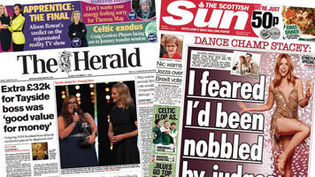 scotland's papers: nhs boss pay-off and brexit vote 'battle'