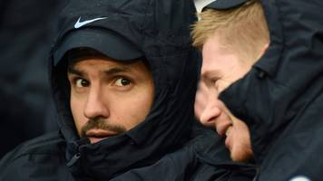 leicester v man city: sergio aguero & kevin de bruyne could play after injuries