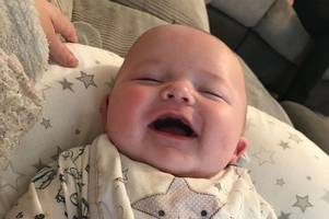 'happy, bouncy' baby diagnosed with leukemia after showing just one symptom